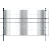 vidaXL 2D paneler og pæle til havehegn, 2.008x1.230 mm, 26 m, grå