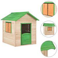 vidaXL legehus til børn grantræ grøn