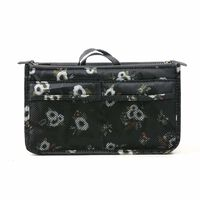 Taske i taske Håndtaske Insert Bag Insert Flower Black