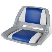 Båtstol med blå pude 41x51x48 cm
