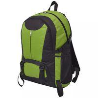 vidaXL vandrerygsæk 40 l sort og grøn