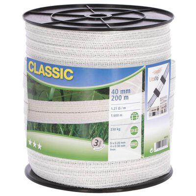 Neutral reb til elektrisk hegn Classic 200 m 40 mm hvid