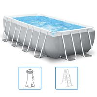 Intex swimmingpoolsæt Prism Frame rektangulær 400 x 200 x 100 cm