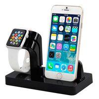 iPhone 5/6/7/8 og Apple Watch opladerdock sort