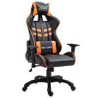 vidaXL gamingstol kunstlæder orange