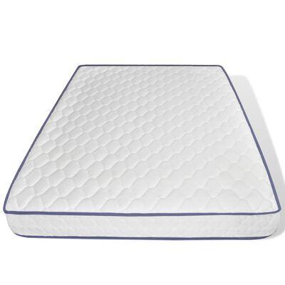 vidaXL seng med madras i memoryskum 140 x 200 cm brun stof