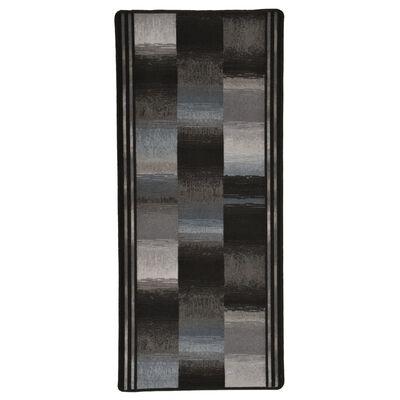 vidaXL tæppeløber 67x150 cm gelunderside sort
