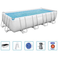 Bestway Power Steel swimmingpool 488x244x122 cm rektangulær