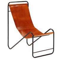 vidaXL stol ægte læder brun