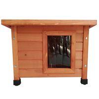 @Pet udendørs kattehus træ brun