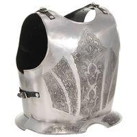 vidaXL middelalderlig krigerharnisk til rollespil stål sølvfarvet