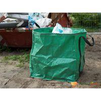 Nature affaldssæk til haven 148 l firkantet grøn