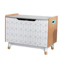KidKraft legetøjskasse Mid-Century Modern grå 73,99 x 46 x 55,88 cm