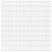 vidaXL havehegnspaneler 2D 2,008x2,03 m 12 m (total længde) sølvfarvet