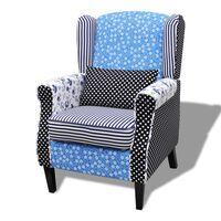 vidaXL lænestol med patchworkdesign stof
