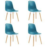 vidaXL spisebordsstole 4 stk. plastik turkis