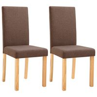 vidaXL spisebordsstole 2 stk. stof brun