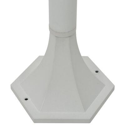 vidaXL havestolpelamper 6 stk. E27 110 cm aluminium hvid