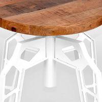 LABEL51 taburet Pebble 35x52 cm hvid