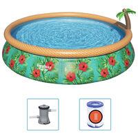 Bestway Fast Set oppusteligt poolsæt Paradise Palms 457x84 cm