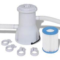 vidaXL filterpumpe til svømmebassin 2000 l/t.