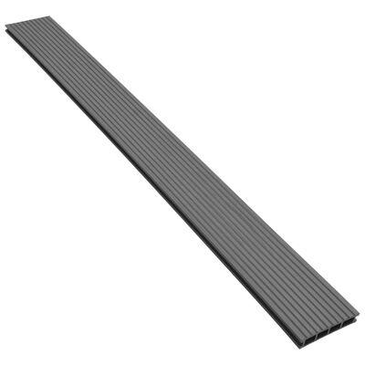 vidaXL WPC terrassebrædder med tilbehør 36 m² 2,2 m grå