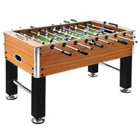 vidaXL bordfodboldbord 60 kg 140x74,5x87,5 kg stål brun og sort