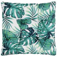 vidaXL udendørs sædehynde 50x50x10 cm stof bladprint