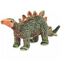 vidaXL stående plyslegetøj stegosaurus dinosaur grøn og orange XXL