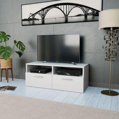 vidaXL TV-skab spånplade 95 x 35 x 36 cm hvid