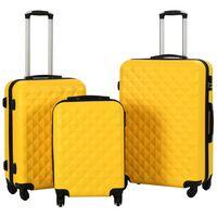 vidaXL kuffertsæt i 3 dele hardcase ABS gul