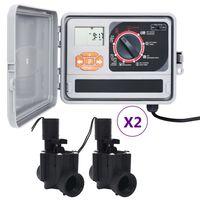 vidaXL kontrolenhed til vandingssystem med 4 magnetventiler