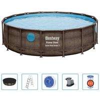 Bestway Power Steel swimmingpoolsæt 488x122 cm