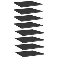 vidaXL boghylder 8 stk. 40x40x1,5 cm spånplade sort højglans