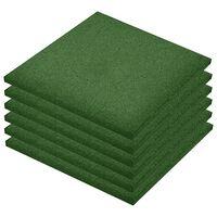 vidaXL faldfliser 24 stk. gummi 50 x 50 x 3 cm grøn