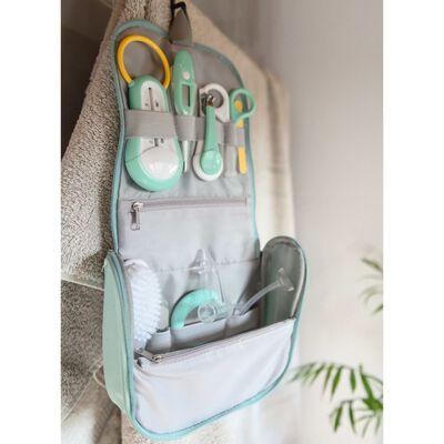 Beaba ophængelig toilettaske til baby 9 dele mintgrøn