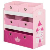 roba opbevaringsenhed til legetøj Crown 63,5 x 30 x 60 cm MDF pink