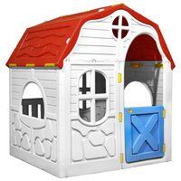 vidaXL sammenfoldeligt legehus med dør og vinduer