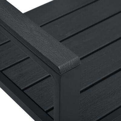 vidaXL havebænk 120 cm HDPE trælook sort