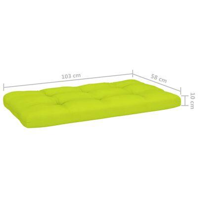 vidaXL hynder til pallesofa 3 stk. lysegrøn