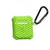 Airpods Taske I Silikone - Grøn