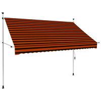 vidaXL manuel foldemarkise 250 cm orange og brun