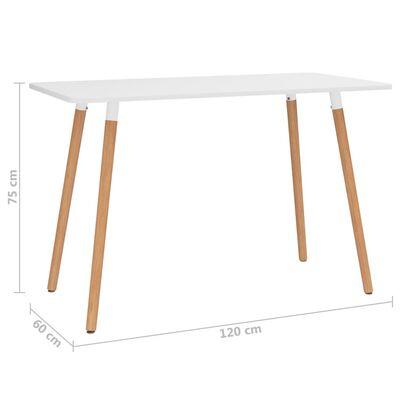 vidaXL spisebordssæt 7 dele brun