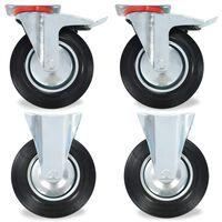 vidaXL hjul 8 stk. 200 mm