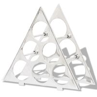 vidaXL vinreol til 15 flasker aluminium sølvfarvet