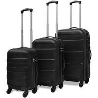 vidaXL kuffertsæt i 3 dele hardcase sort