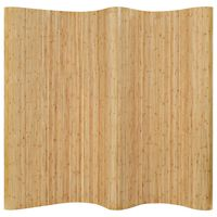 vidaXL rumdeler bambus 250x165 cm naturfarvet
