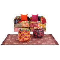 vidaXL modulært sofasæt i 9 dele stof patchwork