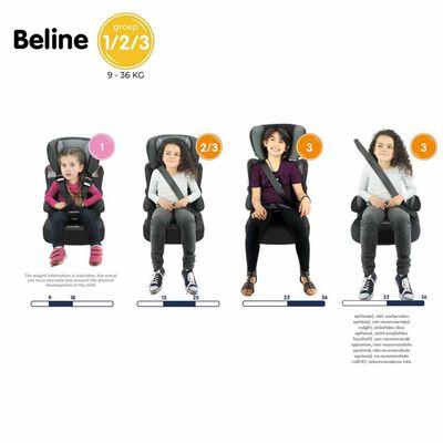Nania autostol Beline Access gruppe 1+2+3 grå