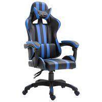vidaXL gamingstol kunstlæder blå